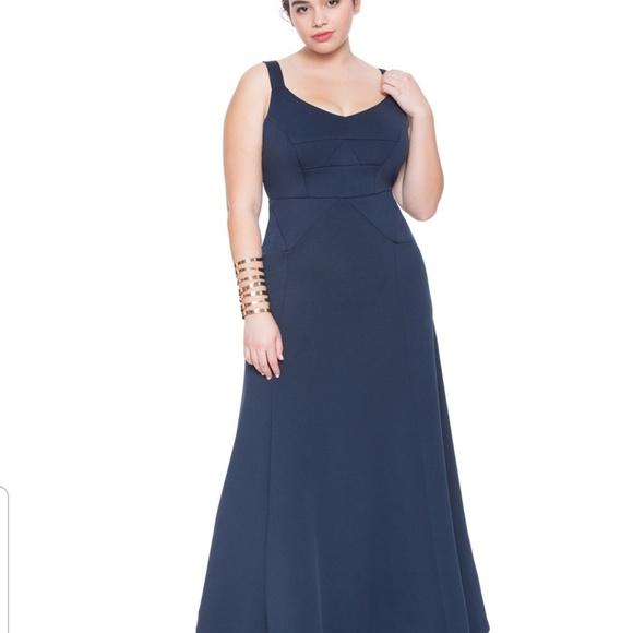 Eloquii Dresses & Skirts - Eloquii long navy dress